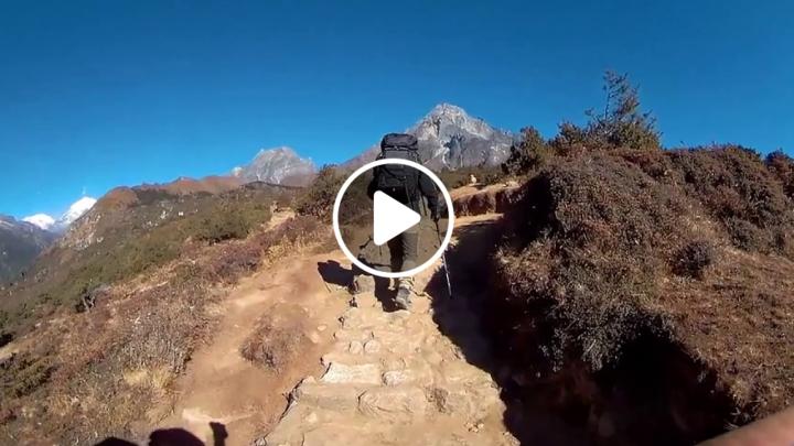 [OMICAM] Weekend trekking holding camera for stabilization test. Success!