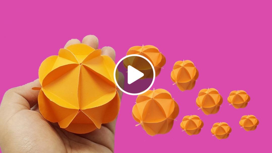 PAPER BALL DECORATIONS | Paper crafts diy, Paper crafts, Diy origami | 607x1080